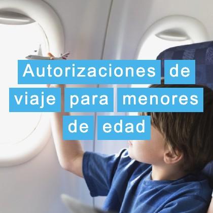 Autorizaciones de viaje para niños