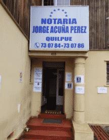 Notaría Jorge Acuña Pérez