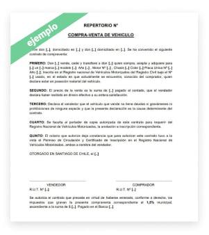 contrato de compra y venta de vehículos