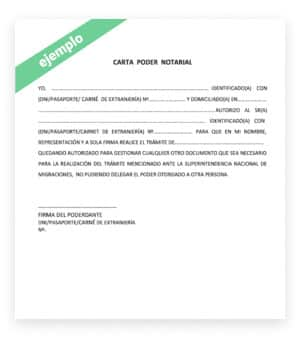Poder notarial chile