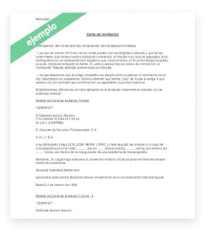 Formato modelo de carta de invitación a Chile